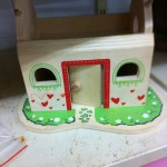 Dolls houses, dolls and furniture
